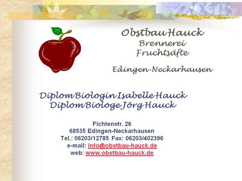 Kontakt Obstbau Hauck