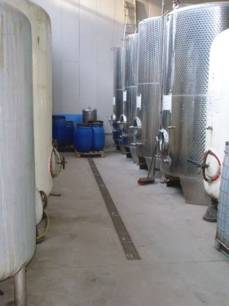 Apfelsaft Lagertanks